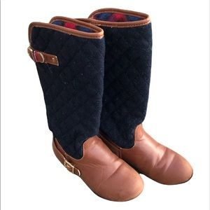 Tommy Hilfiger Andrea Equestrian Quilted Riding Boot